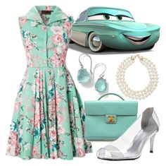 """""""Flo - Disney Bound"""" by rainbowbaconcupcake ❤ liked on Polyvore featuring Ippolita, Chanel and Stuart Weitzman"""