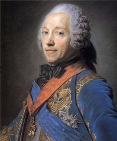 Charles Louis Fouquet, Duke of Belle Isle - Maurice Quentin de La Tour - WikiPaintings.org