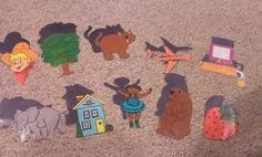 Play this shadow flannel board game after sharing some guessing books like SPOTS, FEATHERS and CURLY TAILS by Nancy Tafuri, WHOSE HAT by Margaret Miller or PEEK-A-MOO by Marie Torres Cimarusti. You could also introduce this activity after reading some books about shadows, like SHADOW by Suzy Lee or MOONBEAR'S SHADOW by Frank Asch.