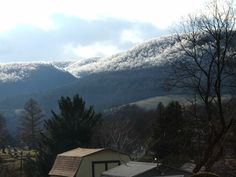 Ice topped mountains of Central Pennsylvania