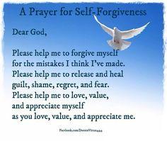Affirmation for self forgiveness