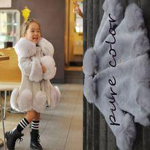 DHL Осень Зима Девушки искусственного Меха пальто Дети Верхняя Одежда Куртка теплая Верхняя Одежда Ребенка Утолщение Одежда Верхняя Одежда Теплые Топы(China (Mainland))