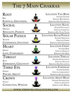 7 main chakras contact me if you would like to schedule an appointment for any…