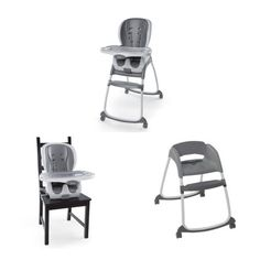 Ingenuity Smartclean Trio 3 In 1 High Chair Slate, White
