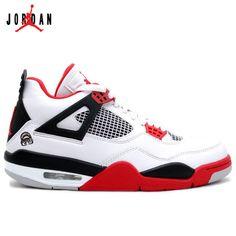 1d73b5b6e1cd8e Air Jordan 4 Fire Red 2012 White Fire Red Black