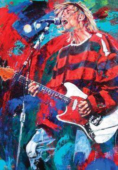 Kurt Cobain fine art print with limited edition canvas giclee print option Kurt Cobain Painting, Kurt Cobain Art, Arte Grunge, Grunge Art, Nirvana Art, Scott Weiland, Music Artwork, Music Painting, Joker Art