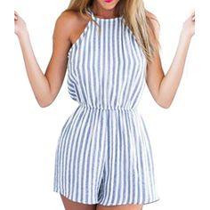 Verano de las mujeres de Clubwear Del Halter Backless Playsuit Bodycon Del Partido Del Mono Del Mameluco Pantalones Sml XL