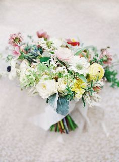 Bouquet with Yellow and Pale Red | photography by http://stevesteinhardt.com/