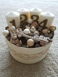 Advent box Wreath Boxes, Diy Wreath, Wreaths, Christmas Advent Wreath, Christmas Diy, Xmas, Advent Box, Diy Box, Winter