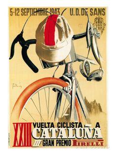 Cykeltävlingsreklam - Affischer av Lantern Press på AllPosters.se