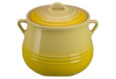 LOVE THESE! Le Creuset Heritage Stoneware Covered Bean Pot, 4-1/2-Quart, Soleil Le Creuset http://www.amazon.com/dp/B00BH97KBK/ref=cm_sw_r_pi_dp_Mo93tb1PCRTNSZR9