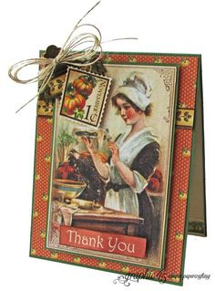 """Make this """"Harvest Thank You"""" card with a great project sheet from #graphic45! #tutorials"""