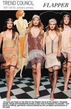 F/W 2014-15, women's intimates, key trends, flapper
