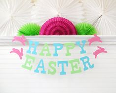 Happy Easter Banner  5 inch Letters with by FreshLemonBlossoms