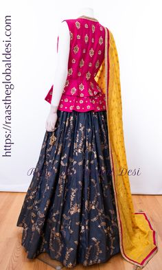 A-Line Wedding Dresses Collections Overview 36 Gorgeou… Choli Designs, Lehenga Designs, Kurti Designs Party Wear, Blouse Neck Designs, Blouse Lehenga, Choli Dress, Brocade Lehenga, Lehenga Choli, Sari Design