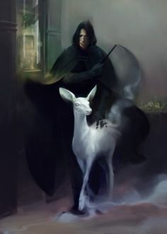 Severus Snape and his patronus #harrypotter