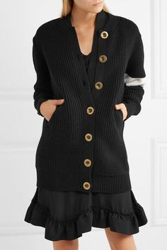 Black and white wool Button fastenings through front 100% wool Dry clean Made in Italy