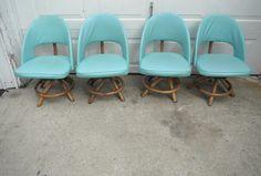 Mid Century Modern Retro Rattan Bamboo Tiki Chairs | eBay