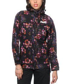 Neff Lush Floral Print 10K Softshell Snowboard Jacket at Zumiez : PDP