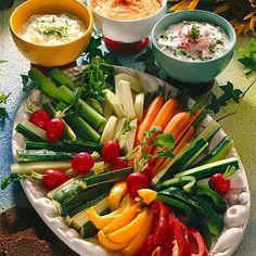 Gemüseplatte mit Quark-Dips Rezept