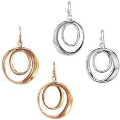 Orbit Earrings   Avon (820 MKD) ❤ liked on Polyvore featuring jewelry, earrings, avon jewelry, avon earrings, earring jewelry and avon