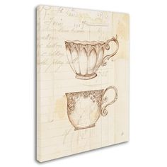 "Trademark Art 'Authentic Coffee V' Graphic Art Print on Wrapped Canvas Size: 19"" H x 14"" W x 2"" D"