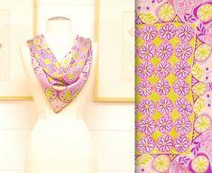 Vintage VERA Silk Scarf / Daisies Motif / Retro Collectable   Etsy Freya Bikini, Hand Roll, Pastel Floral, Vintage Louis Vuitton, Daisies, Fit And Flare, Silk, Retro, Margaritas