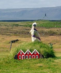 Elf houses in Iceland by Wikipedia user Fingalo.  from Enchanted Entryways - Elf Houses and Fairy Doors by Carolyn Emerick. Click the picture to read :-) www.carolynemerick.com