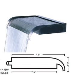 Waterfall Boxes and Spillways 181126: Stainless Steel Sheer Cascade Weirs - Available In 12 -60 Sizes -> BUY IT NOW ONLY: $159.99 on eBay! Water Wall Fountain, Water Fountain Design, Modern Fountain, Diy Fountain, Indoor Wall Fountains, Indoor Fountain, Outdoor Fountains, Water Fountains, Garden Fountains