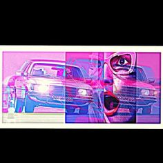 Art by me. You wanna Benz ? #Mercedes#mercedesbenz#450SEL#V8#germaniron#art#arty#pinklady#pink#rose#photomontage#Photoshop#collage#cars#instacar#… (à Marseille)