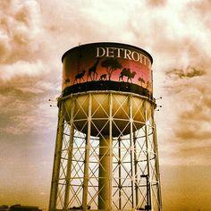 The Detroit Zoo in Royal Oak, Michigan water tower.