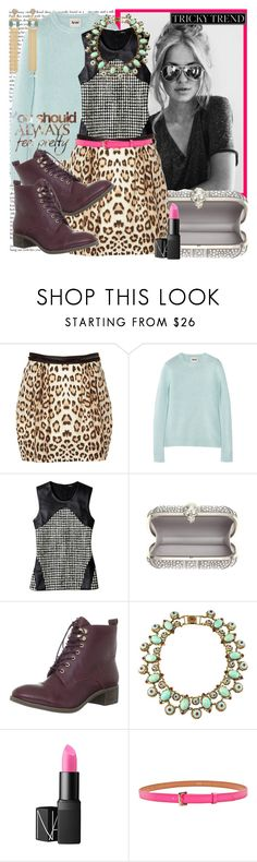 """Tricky Trend: Mix of prints and colors"" by karineminzonwilson ❤ liked on Polyvore featuring Roberto Cavalli, Acne Studios, Raoul, Alexander McQueen, Madison Harding, NARS Cosmetics, Meredith Wendell, Lele Sadoughi and tricky trendy"