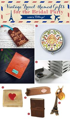 Vintage travel themed gift ideas!