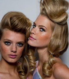 """Jeremy Scott Spring 2012 """"country Barbie"""" look. love the cheek color!"""