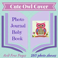 This owl embellished photo journal baby book is a beautiful way to preserve precious memories. Inside the stunning cover you will find room for 160 photos x and a space beside each photo pocket to write something personal. Keepsake Baby Gifts, Photo Journal, Cute Owl, Cover Photos, Christening, Writing, Books, Photo Diary, Libros