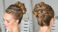 Double Lace Braid High Bun | Missy Sue