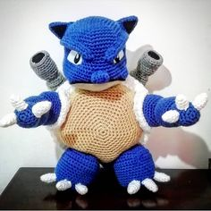 """Mi piace"": 18, commenti: 0 - MC Handmade Maria Cristina (@mc_handmade_italy) su Instagram: ""#pokemon #blastoise  #amigurumi#amigurumianimals #amigurumilove  #crochetinspiration #crochetideas…"" Pokemon Blastoise, Dinosaur Stuffed Animal, Italy, Toys, Crochet, Handmade, Inspiration, Animals, Instagram"