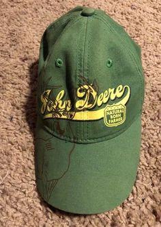 quality design 95c13 d3aba John Deere Boys Small Hat 3-5 Year Old Cap Green natural Born Farmer  Adjustabl