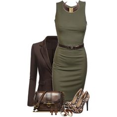 Belted Dress, created by daiscat on Polyvore