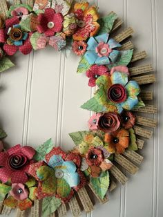 Love this, but maybe with flowers only on about 25 percent of wreath...