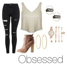 """""""Obsessed with Star Wars right now"""" by iamglucero on Polyvore featuring Topshop, Miss Selfridge, Qupid, Anne Klein and Roberta Chiarella"""