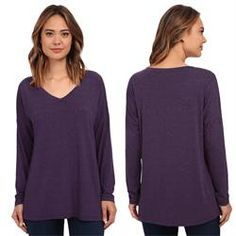 Maria Luisa Boutique | ML by Maria Luisa - Allen Allen Long Sleeve V-Neck Dolman Tee