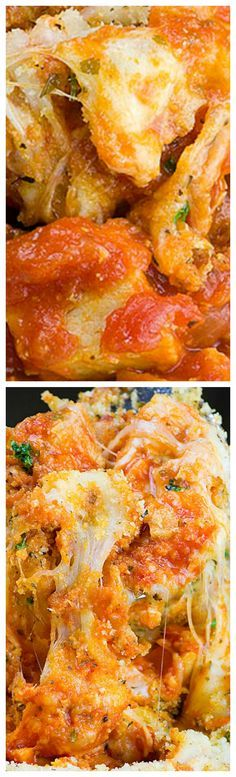 Chicken Parmesan Casserole ~ Served with pasta is quick, HEALTHY and EASY WEEKNIGHT DINNER for whole family.