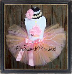 SWEET PEACH TEA  Birthday Tutu Skirt Set by OhSweetPickles on Etsy, $39.95