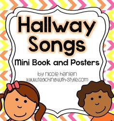 Having a hard time getting your class to walk quietly in the hallway?  Ever feel like you have to constantly stop and wait for everyone to be standing in a straight line?  Here you will find fun songs to sing or chant with your class to get them ready to walk quietly and respectfully in the hallway.Included are small posters to create a book.