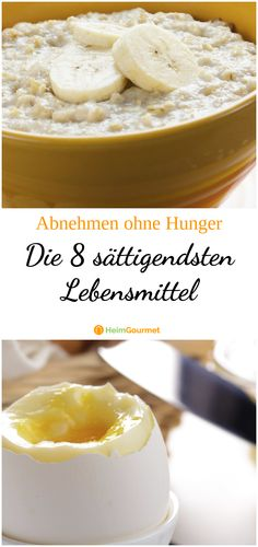 Losing weight without hunger: The 8 most filling foods- Abnehmen ohne Hunger: Die 8 sättigendsten Lebensmittel Lose weight? Yes – if there were not always this hunger! With these foods you will trick your hunger and stay full for a long time! Healthy Dessert Recipes, Healthy Drinks, Healthy Foods To Eat, Detox Drinks, Most Filling Foods, Lactation Recipes, Good Food, Yummy Food, Fat Burning Drinks