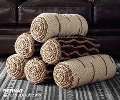 Crochet Timber Pillows, bolster pillows for the sofa.