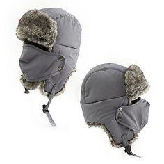 SIGGI Fur Winter Trapper Hunting Russian Bomber Trooper Hat for Men Women Unisex Grey - http://todays-shopping.xyz/2016/05/26/siggi-fur-winter-trapper-hunting-russian-bomber-trooper-hat-for-men-women-unisex-grey/