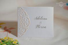INVITATII HANDMADE: Invitatii albe