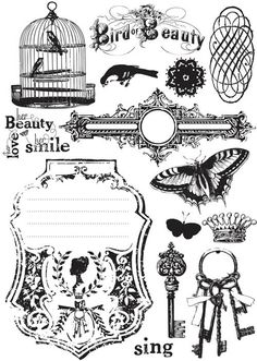 BRAND NEW Imagenne Cling Stamp Set 5x7 Londonerry by Hennytj, $7.99